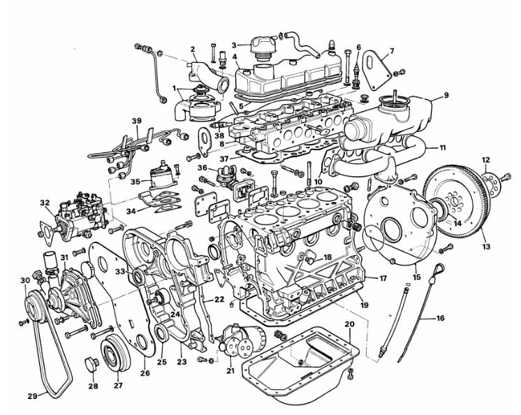 Engine components DAF BN 52